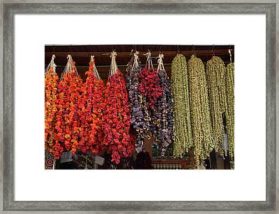 Turkey, Gaziantep, Medina, Spice Market Framed Print