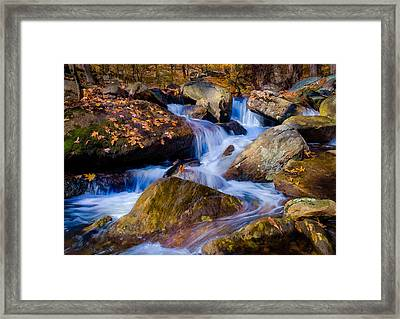 Framed Print featuring the photograph Turkey Hill Pond Stream by Steve Zimic