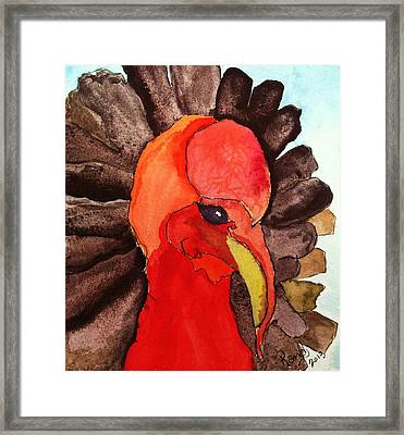 Turkey In Waiting Framed Print