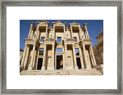 Turkey, Izmir, Kusadasi, Ephesus Framed Print by Emily Wilson