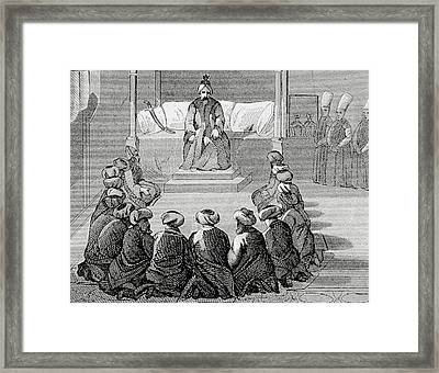 Turkey Ottoman Empire Audience Framed Print