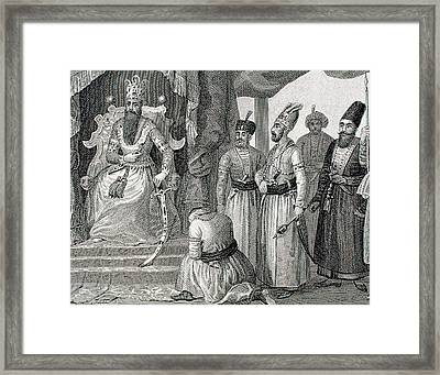 Turkey Ottoman Empire Sultan Receiving Framed Print