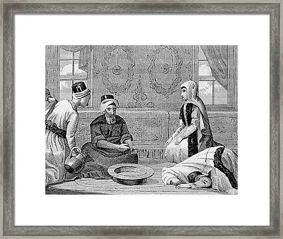 Turkey Ottoman Empire Turkish Noble Framed Print by Prisma Archivo