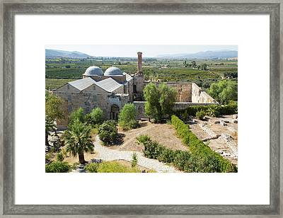 Turkey The Isa Bey Mosque In Seljuk Framed Print
