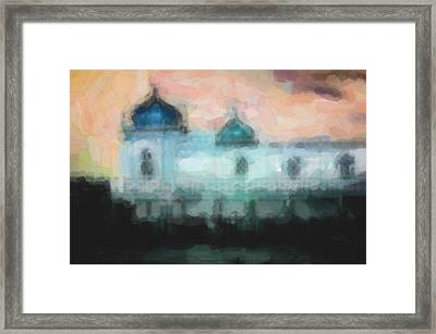 Turkish Bathhouse In Abstrac Watercolors Framed Print