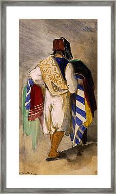 Turkish Carpet Seller, 1841 Framed Print