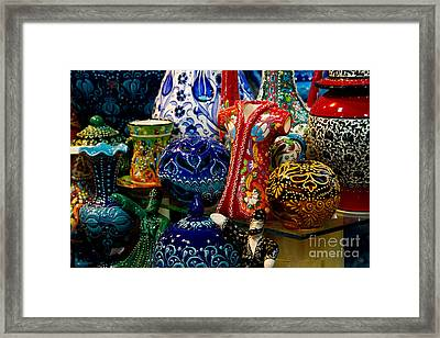 Turkish Ceramic Pottery 2 Framed Print by David Smith