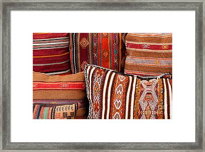 Turkish Cushions 01 Framed Print by Rick Piper Photography