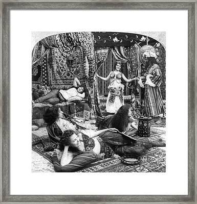 Turkish Harem, C1900 Framed Print by Granger