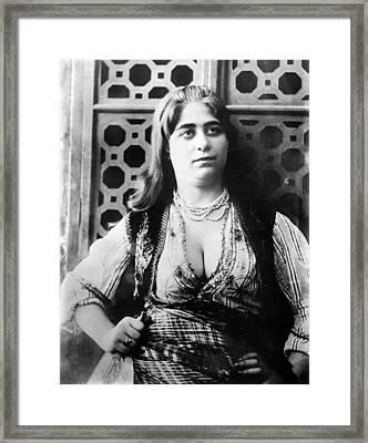 Turkish Harem Woman Framed Print