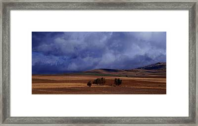 Turkish Landscape From Antalya To Konya  Framed Print by Jacqueline M Lewis