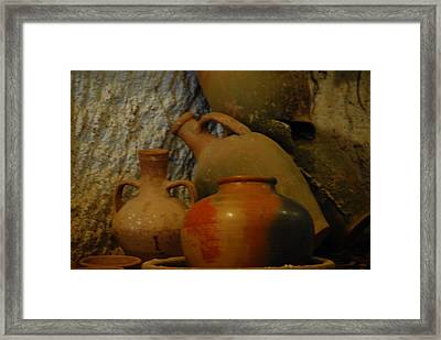 Turkish Pottery Framed Print by Jacqueline M Lewis