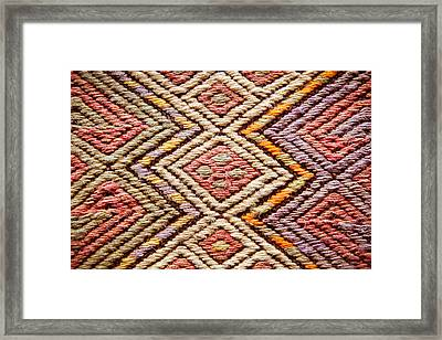 Turkish Rug Framed Print by Tom Gowanlock