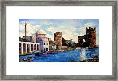 Turkish Ruins On The Med Framed Print