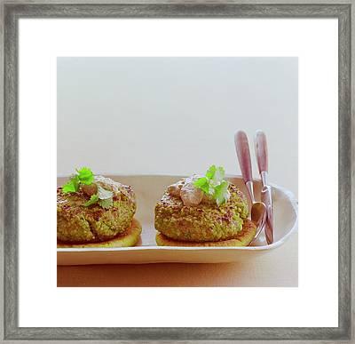 Turkish Style Lamb Burgers Framed Print by Romulo Yanes