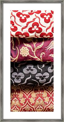 Turkish Textiles 01 Framed Print by Rick Piper Photography