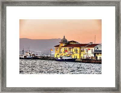 Turkish Water Police Station Framed Print by Mark Alexander