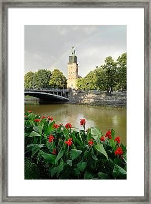 Turku Cathedral Finland Framed Print by Georgy Krivosheev