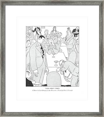 Turn-about Tales  A Diner In Jack Dempsey's Bar Framed Print