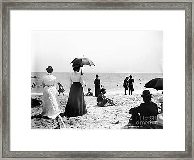 Turn Of The Century Palm Beach Framed Print by LOC Science Source