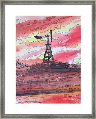 Turn Off The Windmill  Framed Print by Lorita Montgomery