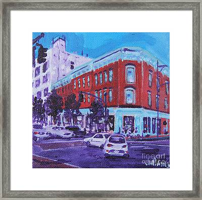 Turn The Corner Framed Print