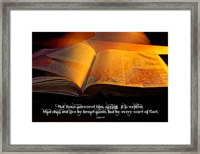 Turn The Page W Text Framed Print by Don Durante Jr