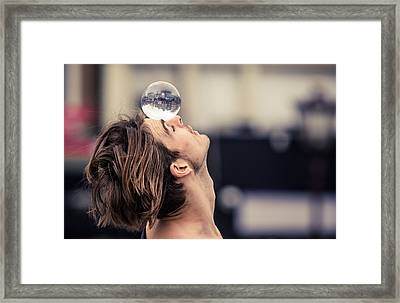 Turn The World The Way You Want Framed Print by Jenny Rainbow