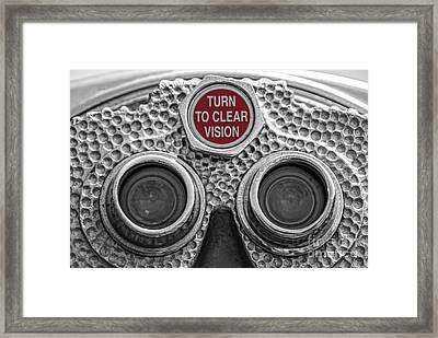 Turn To Clear Vision Framed Print