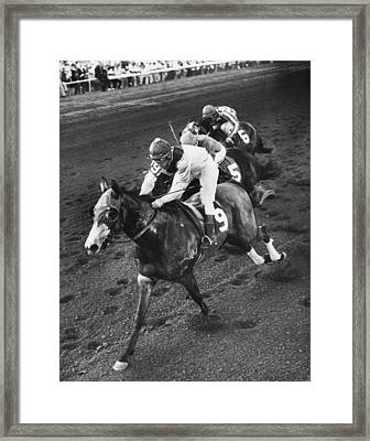 Turn To Reason Horse Racing Vintage Framed Print