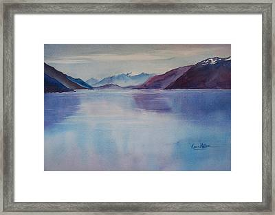 Turnagain Arm In Alaska Framed Print by Karen Mattson