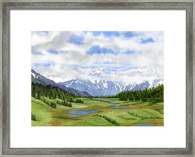 Turnagain Pass Mountain View Framed Print