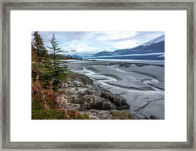 Turnagain Tide Flats Framed Print