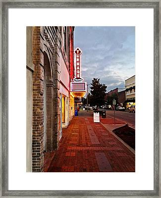 Turnage Theater Grand Opening Framed Print