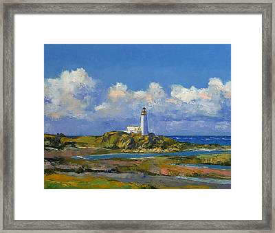 Turnberry Lighthouse Framed Print by Michael Creese