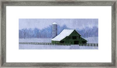 Turner Barn In Brentwood Framed Print