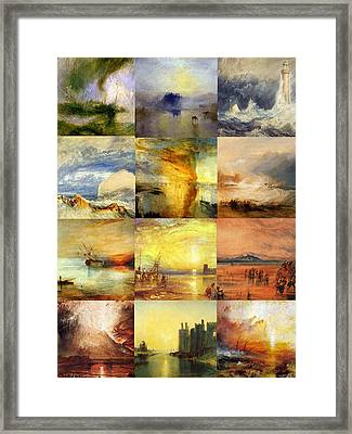 Turner Collage Framed Print by Philip Ralley