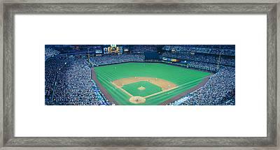 Turner Field At Night, World Champion Framed Print