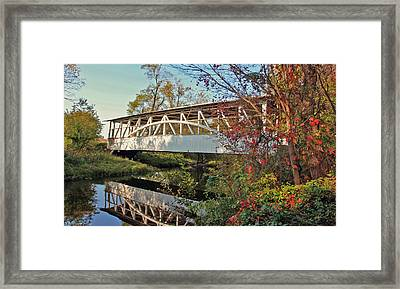 Framed Print featuring the photograph Turner's Covered Bridge by Suzanne Stout
