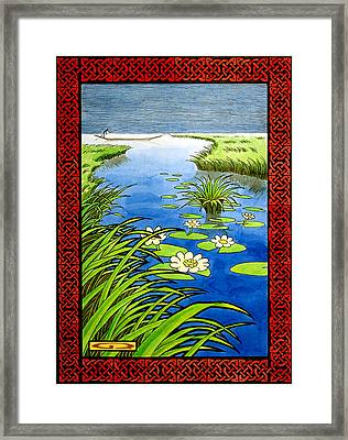 Turneth Rivers Into A Wilderness Framed Print by Guy Radcliffe