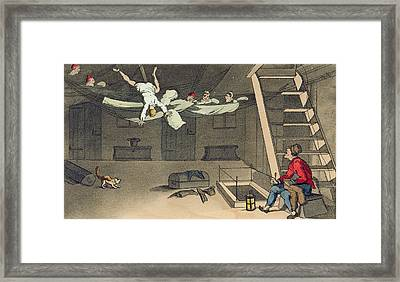 Turning In - And Out Again, Plate Framed Print by Thomas Rowlandson