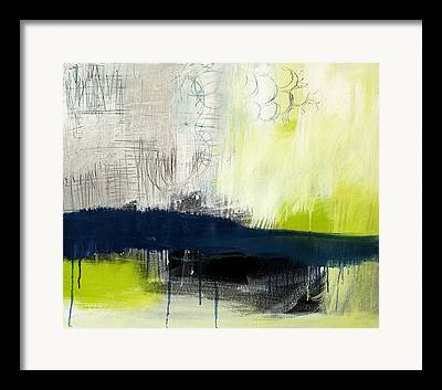 Blue And Green Framed Prints