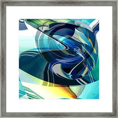 Framed Print featuring the digital art Turning Point by rd Erickson