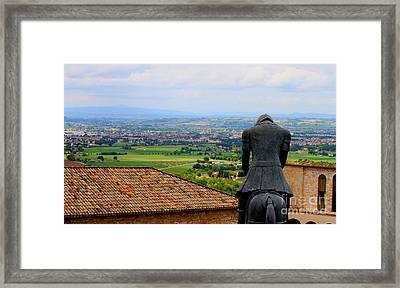 Turning Point -st. Francis Of Assisi Framed Print by Theresa Ramos-DuVon