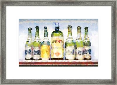 Turning Water Into Wine Framed Print
