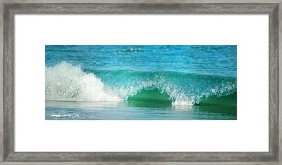 Turquois Waves  Framed Print