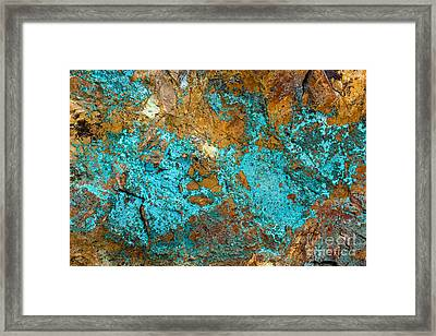 Framed Print featuring the photograph Turquoise Abstract by Chris Scroggins