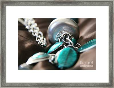 Framed Print featuring the photograph Turquoise And Silver by Lynn England