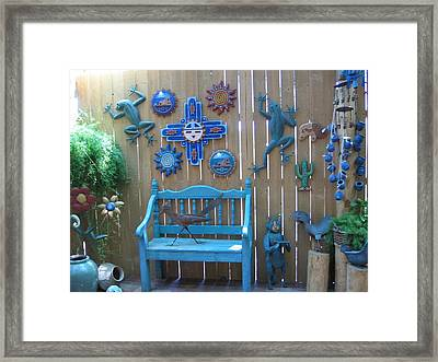 Framed Print featuring the photograph Turquoise Corner by Dora Sofia Caputo Photographic Art and Design