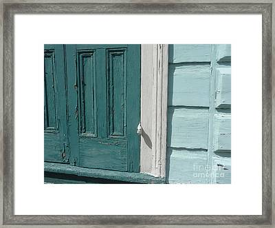Framed Print featuring the photograph Turquoise Door by Valerie Reeves